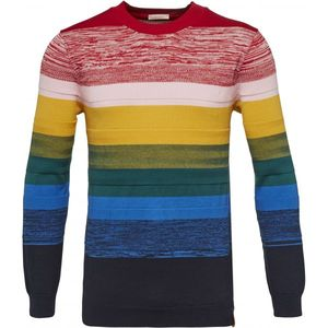 Multi Color Crew Neck Knit GOTS - KnowledgeCotton Apparel