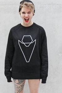 Pullover Grafikherz Unisex black VEROIKON  - VEROIKON