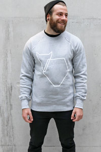 Pullover Grafikherz light grey VEROIKON  - VEROIKON