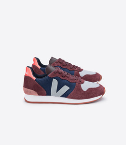 HOLIDAY LOW TOP B-MESH NAUTICO BURGUNDY OXFORD GREY - Veja