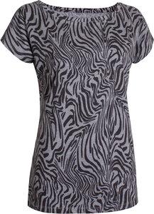 T-Shirt Oversized Zebra Grey Melange - OGNX