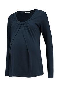 dunkelblaues Basic Umstandsshirt Stillshirt GOTS - Love2Wait