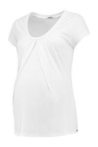weißes Basic Umstandsshirt Stillshirt GOTS - Love2Wait