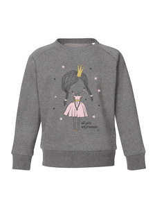 Sweatshirt mit Motiv / all girls are princesses - Kultgut