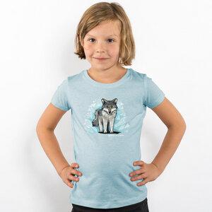 Julius Muschalek - Wolf - Girls Organic Cotton T‑Shirt - Nikkifaktur