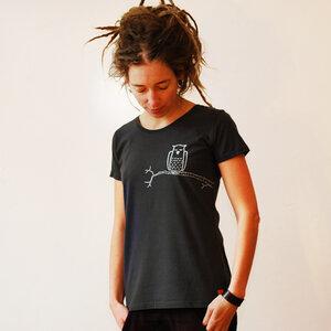 Damen T-Shirt Zweigeule dunkelgrau - Cmig