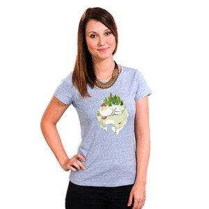 See You in Spring - Frauenshirt mit Print aus Biobaumwolle - Coromandel