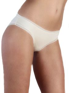 Damen Slip mit Spitze Bio-Baumwolle Bikinislip 6 Farben - Albero