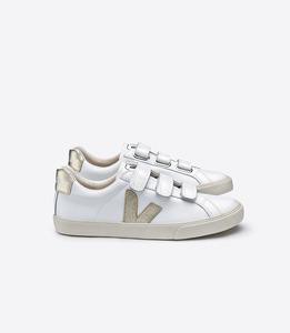 ESPLAR 3-LOCK LEATHER EXTRA WHITE GOLD - Veja