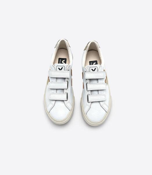 Veja Sneaker Damen 3 Lock Leather Extra White Gold | Avocadostore