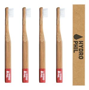 Bambus Kinder Zahnbürste Pack rot - HYDROPHIL