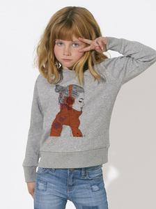 Sweatshirt mit Motiv / Mädchen mit Kopfhörer - Kultgut