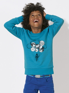 Sweatshirt mit Motiv / Astronaut mit Planeten - Kultgut
