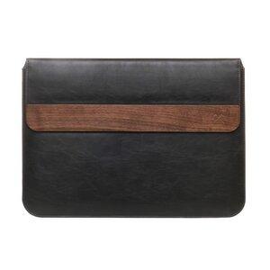 EcoPouch - Laptop/MacBook 15'' Tasche mit Walnuss Holz - Woodcessories