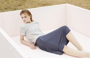 Shirt Oliv - grau - Lana