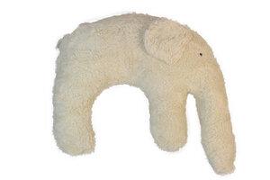 Kuschelkissen 'Elefant' Farbe: weiss / Hirsespelz - PAT & PATTY