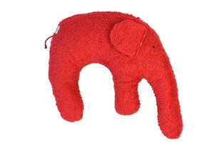 "Kuschelkissen ""Elefant"" Farbe: rot / Hirsespelz - PAT & PATTY"
