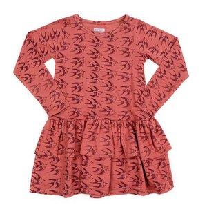 Mädchen Jersey Kleid Nadja birds - Liv+Lou