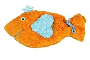 Wärmekissen 'Fisch', Dinkelkörner ,Farbe: orange - PAT & PATTY
