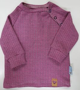 Babyraglanshirt Knit-Knit Ministripes rosa - Omilich