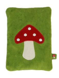 "Wärmekissen ""Pilz"", Dinkelkörner ,Farbe: grüne Samt - PAT & PATTY"