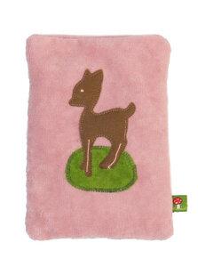 Wärmekissen 'Reh', Dinkelkörner ,Farbe: rosa Samt - PAT & PATTY