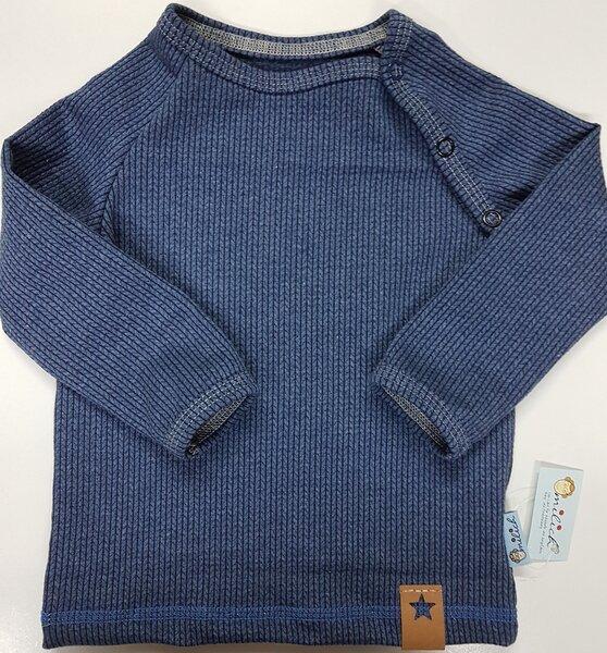 Babyraglanshirt Knit-knit Ministripes Jeansblau