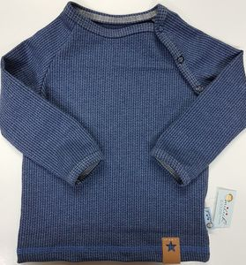 Babyraglanshirt Knit-Knit Ministripes jeansblau - Omilich