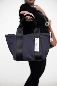 kleinekısmet Tasche mit Reißverschluss, Canvas grau, upcycling&bio  - diejuju