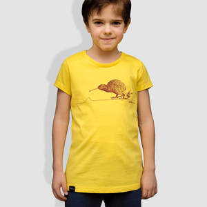 Kinder T-Shirt, 'Kiwi', Maiz Yellow - little kiwi
