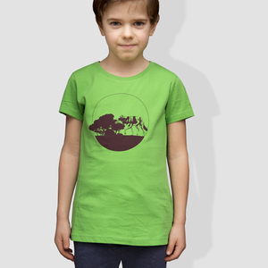Kinder T-Shirt, 'Kojote', Green - little kiwi