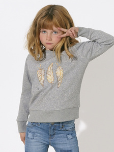 Sweatshirt mit Motiv / Gluecksfeder - Kultgut