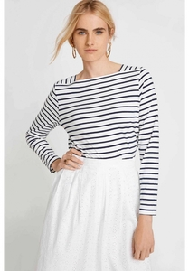 Mina Breton Top Navy - People Tree