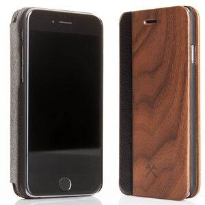 EcoFlip iPhone Holz Case mit natürlicher Lederoptik - Woodcessories