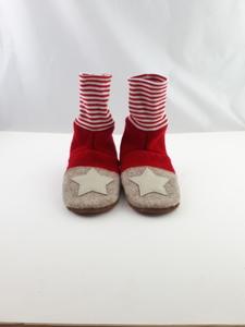 Gr. 28/29 Schuhe aus Wolle,Ledersohle, mit hohem Bündchen  - Süßstoff