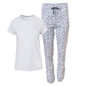 Damenpyjama weiß bedruckt - People Wear Organic