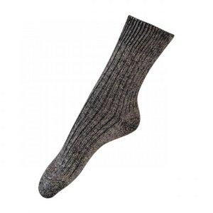 Hirsch 3er Pack Longlife Socke aus Baumwolle/Leinen in natur - hirsch natur