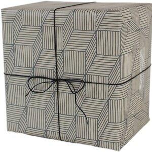 Recycling-Geschenkpapier Streifenspiel - ava&yves