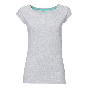 TT01 Cap Sleeve T-Shirt Damen Grau Spotted Bio & Fair - THOKKTHOKK