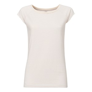 Triple Striped Cap Sleeve T-Shirt Damen Bio & Fair - THOKKTHOKK