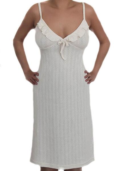 76104d17b20447 Albero - Damen Nachthemd Bio-Baumwolle Jaquard Schlafanzug Nachtwäsche  Pyjama | Avocadostore