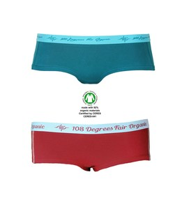 4er Pack Damen Hot Pants Mix petrol chili, GOTS - 108 Degrees