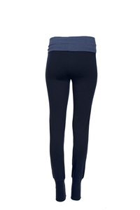 Yogahose (dunkelblau, heller Bund) - People Wear Organic