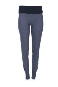 Yogahose (blau, dunkler Bund) - People Wear Organic