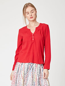 BEATRICE TOP - Poppy Red - Thought   Braintree