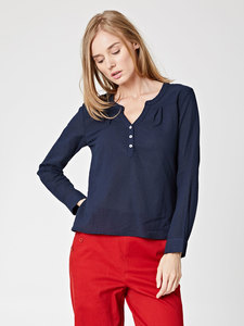BEATRICE TOP - Navy - Thought