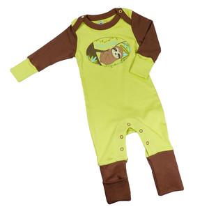 Wohlfühl-Schlafanzug Grün 'Faultier' oder Peach 'Rosa Delfin' - Mama Ocllo