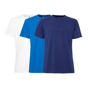 3er Pack TT02 T-Shirt Herren Weiß/Blau/Dunkelblau Bio & Fair - ThokkThokk