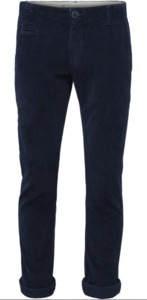 8 Wales Corduroy Chinos - Total Eclipse - KnowledgeCotton Apparel