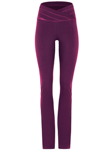 Yogahose - Roll Over Pants - Purple - Mandala